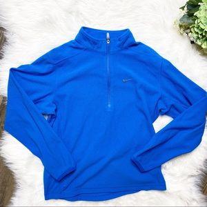 • Nike Fleece Logo Therma Fit Long Sleeve Top •